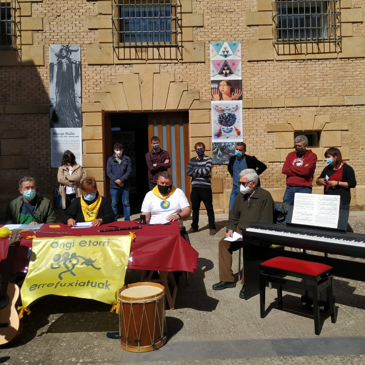 Recogida de instrumentos en Lizarra